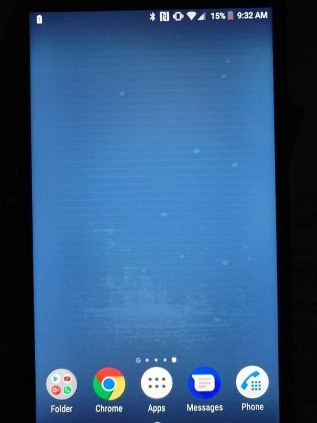 Фото дисплею смартфону Sony, з яким виникли проблеми