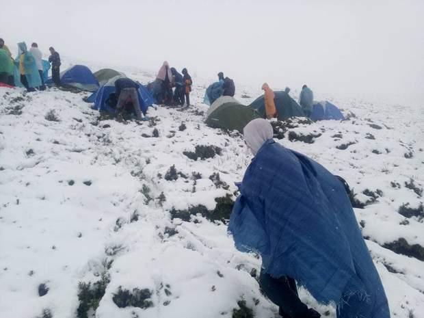 діти гори Карпати сніг