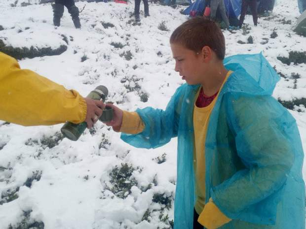 діти табір Карпати сніг