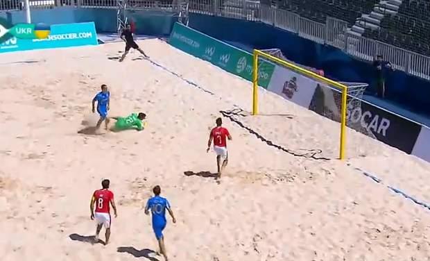 Збірна України здобула перемогу у пляжному футболі