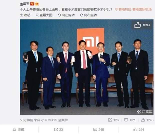 Які смартфони використовують керівники Xiaomi