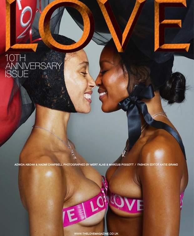 Адво Абоа і Наомі Кемпбелл для Love Magazine