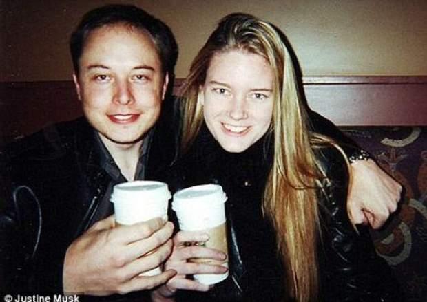 Ілон Маск із своєю першою дружиною Жюстін
