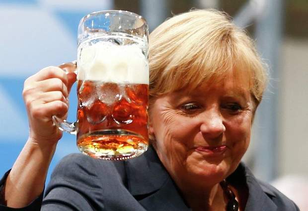 Ангела Меркель і пиво