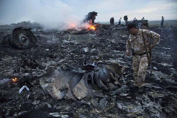 Трагічне місце після падіння Boeing-777