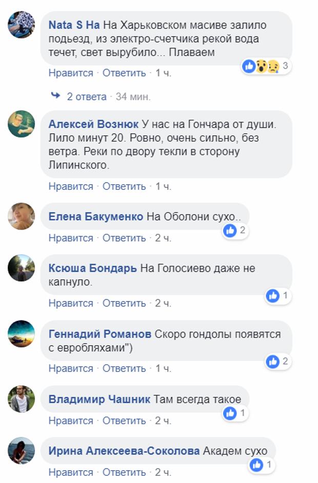 коментарі негода Київ