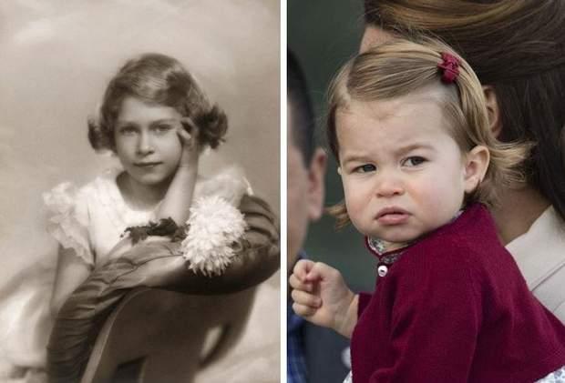 Єлизавета II і принцесса Шарлотта