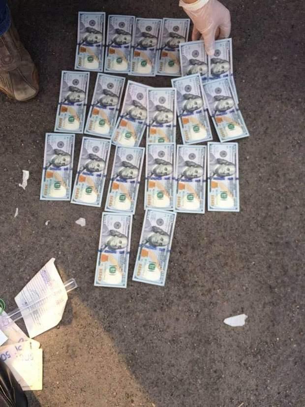 Гроші, які вилучили у чиновника