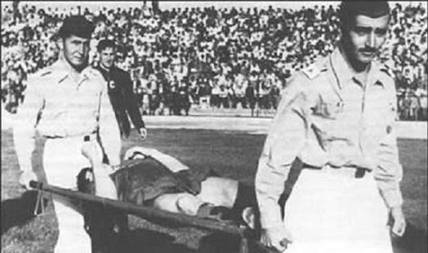 ЧС-1962. СРСР – Югославія. Едуарда Дубинського виносять з поля