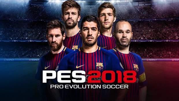 Обкладинка гри Pro Evolution Soccer 2018