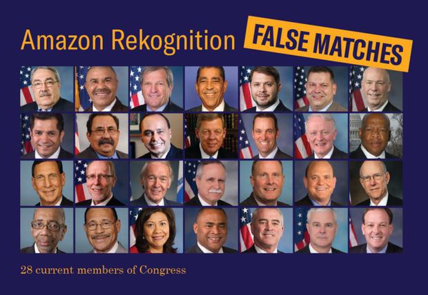28 членів конгресу, яких Amazon Rekognition визначила як злочинців