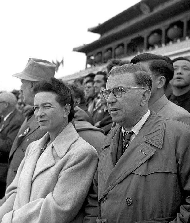 Сімона де Бовуар та Жан-Поль Сартр
