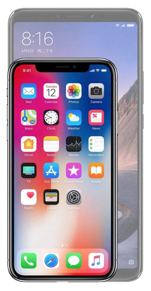 Xiaomi Mi Max 3 з iPhone X