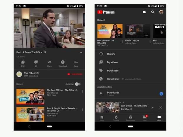 Як активувати темну тему в додатку YouTube для Android