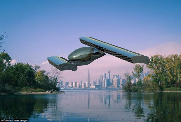 Літаючий автомобіль, що махає крилами