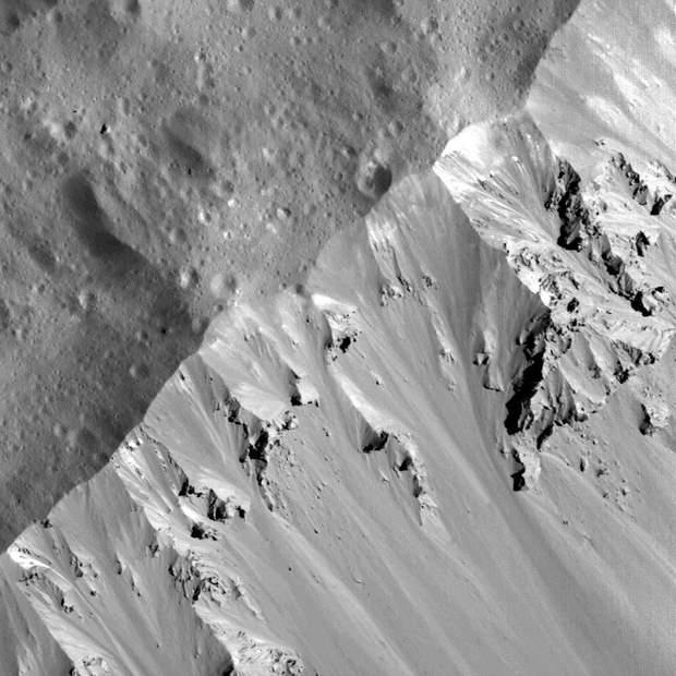 Ділянка півніяної частини валу кратера Оккатор