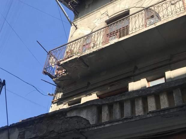 Обвал балкону Івано-Франківськ