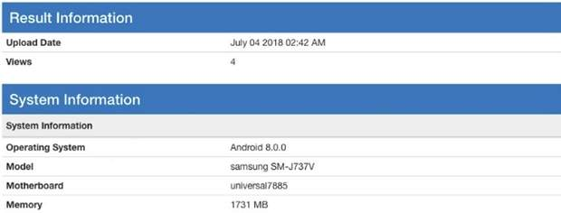 Samsung Galaxy J7 Aero помітили в Geekbench