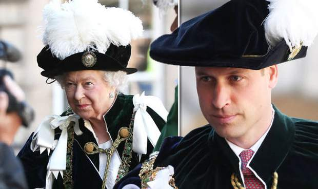 Єлизавета II  і принц Вільям