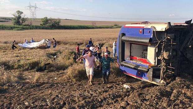 аварія, потяг, туреччина