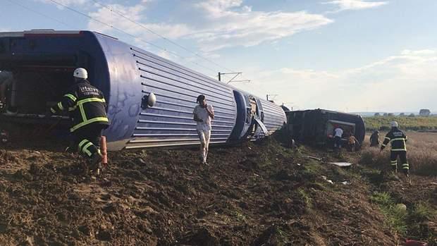 поїзд, аварія, тучреччина