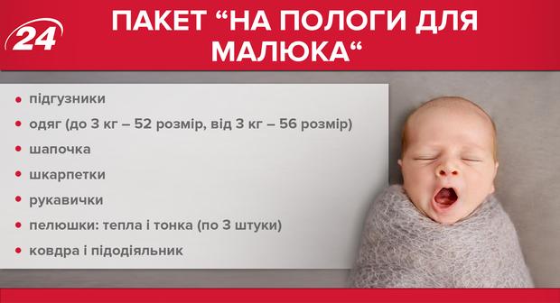 Список речей на пологи для малюка