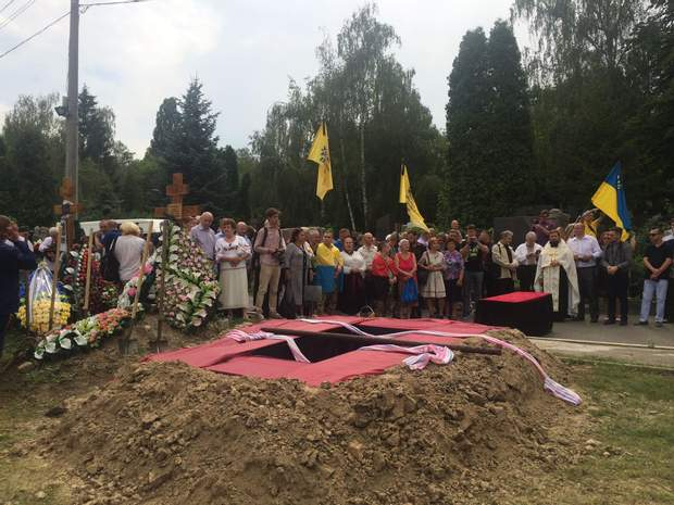 Похорон Левка Лук'яненка, Байкове кладовище, Київ