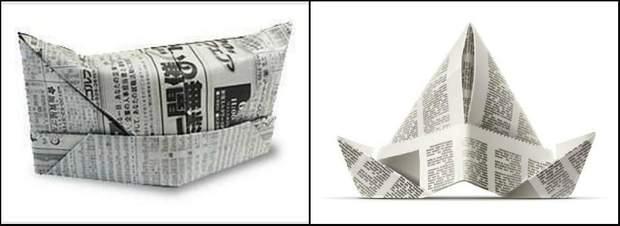 Головні убори, зроблені з газети