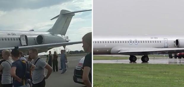 Літак, Бориспіль, аварійна посадка, UR-CRX