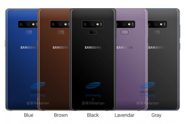 Samsung Galaxy Note9,смартфон, гаджети, кольори