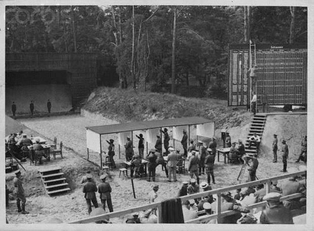 Змаганнях зі стрільби, які проходили на олімпійських іграх у фашистській Німеччині