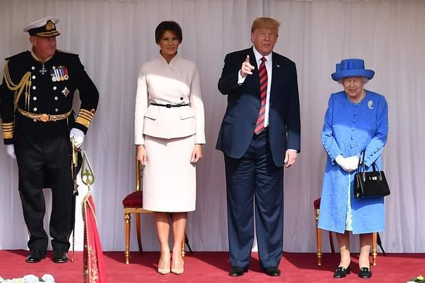 Дональд Трамп Меланія Королева Єлизавета ІІ