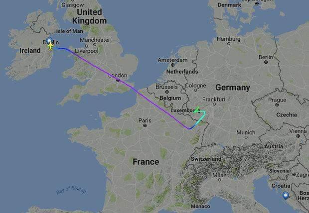 Ryanair маршрут карта