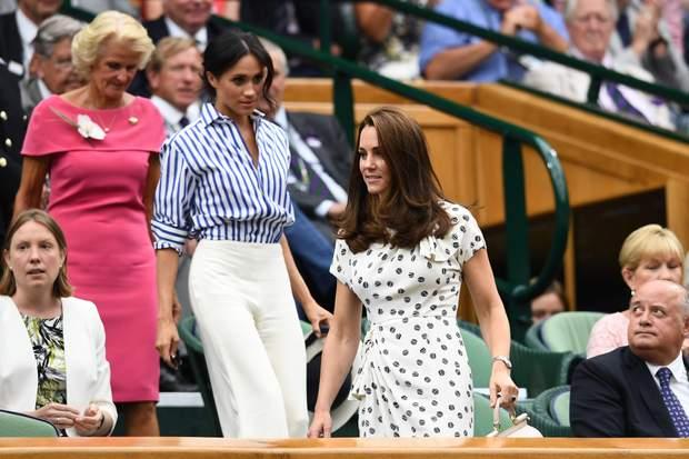 Кейт Міддлтон і Меган Маркл на тенісному турнірі