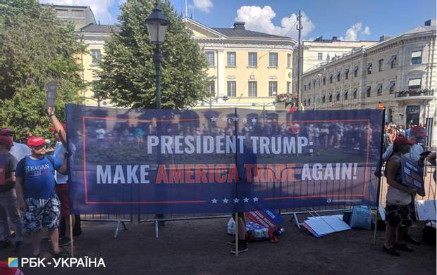 Путін, Трамп, Україна, Гельсінкі, Фінляндія, протести