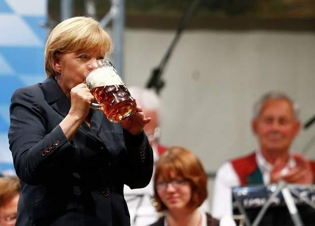 Меркель пиво