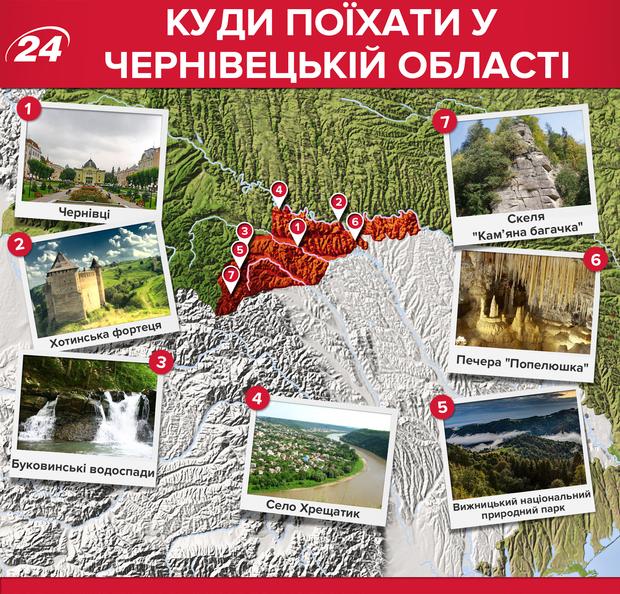 Куди поїхати у Чернівецькій області