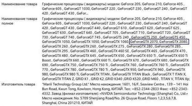 Сертифікація нових відеокарт NVIDIA