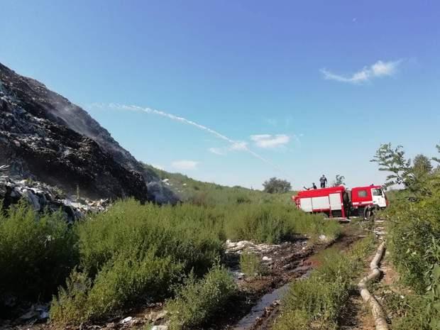 пожежа, сміттєзвалище, полтавська область