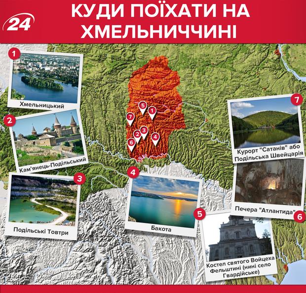 Хмельницкая область: какие места стоит посетить
