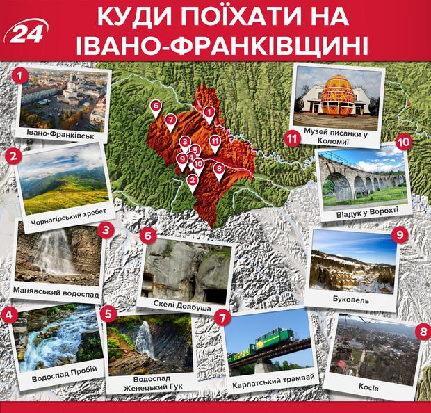 Івано-Франківська область: які місця варто відвідати