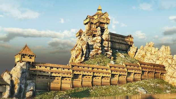 3D-модель фортеці у Тустані