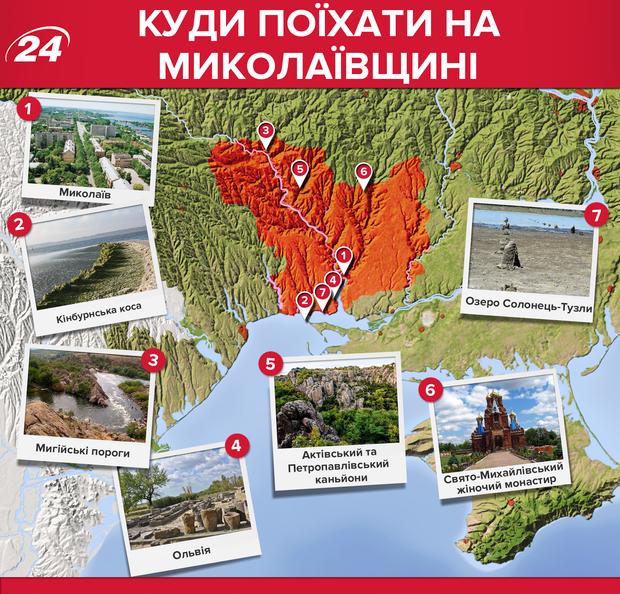 Миколаївська область: які місця варто відвідати