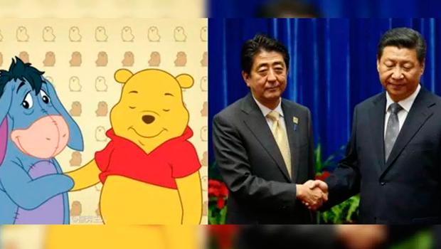 Кумедне порівняння Сіндзо Абе та Сі Дзіньпіна із героями мульсеріалу про Вінні-Пуха