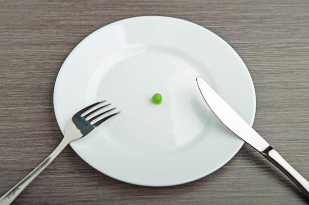 Ваш раціон складається з маленьких порцій
