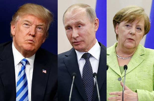 Трамп об'єднав Меркель і Путіна проти себе