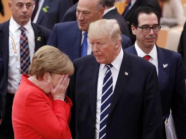 Трамп Меркель Путін