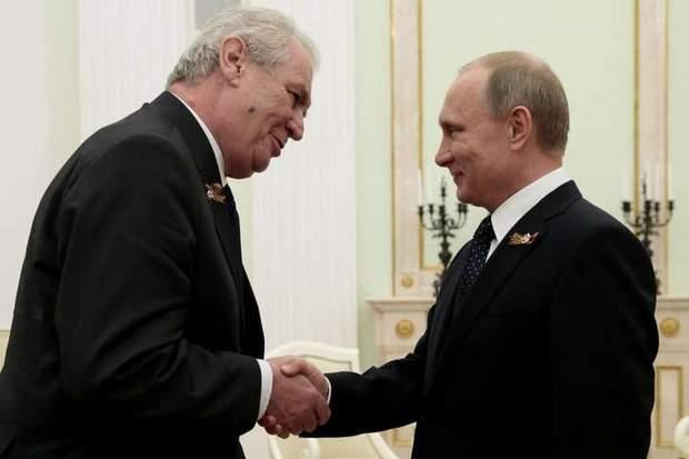 Мілош Земан і Володимир Путін