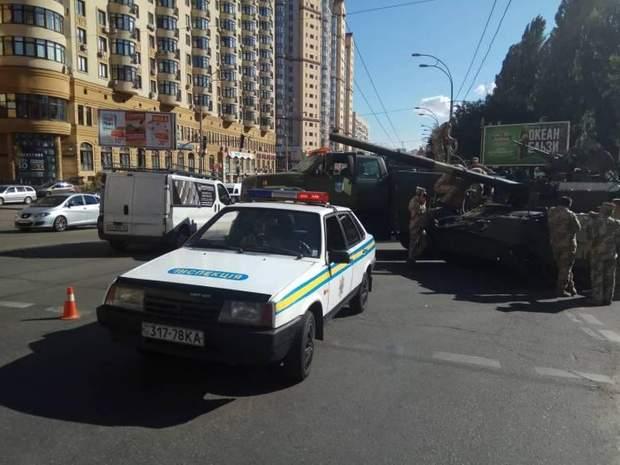 ДТП  танк Київ