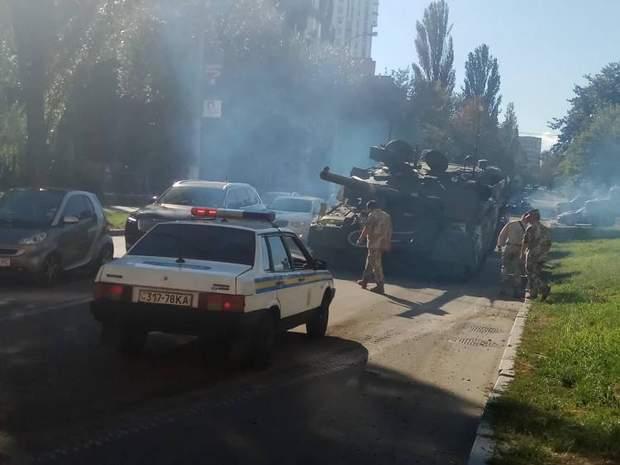 танк ДТП Київ парад